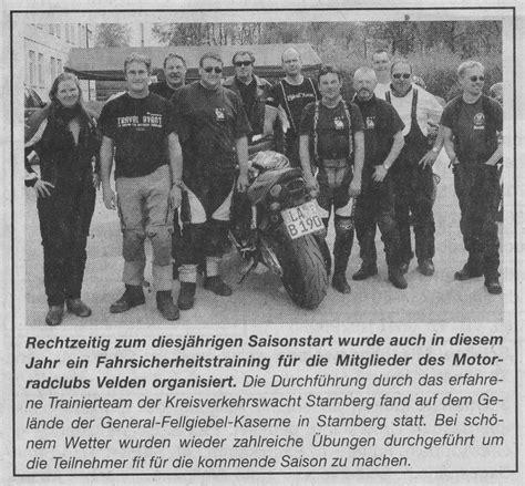 Motorrad Sicherheitstraining Reutlingen by Willkommen Auf Der Website Des Motorradclubs Velden E V