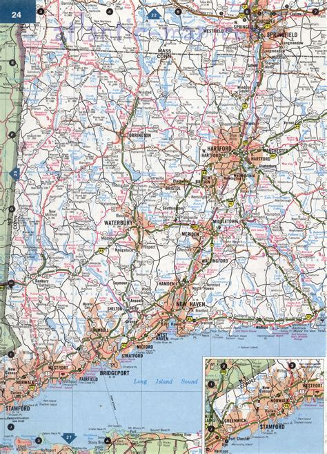 map usa connecticut connecticut highway map