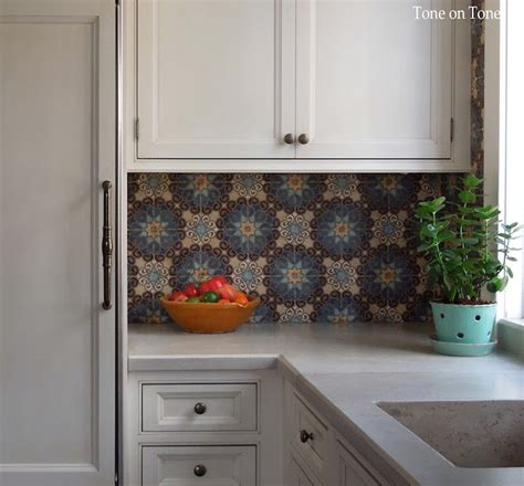 Moroccan Tiles Kitchen Backsplash Kitchen Cabinets With Concrete Countertops Design Ideas