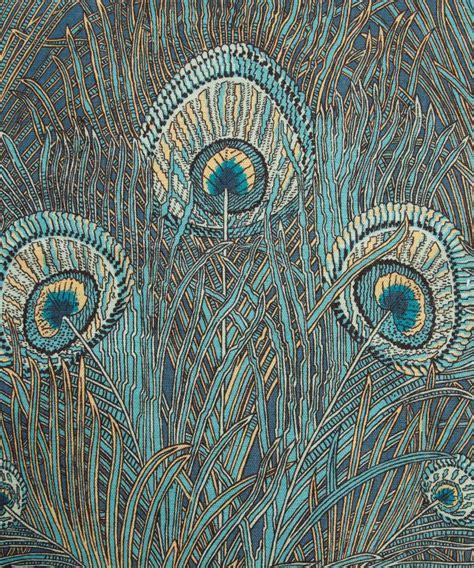 liberty print upholstery fabric turquoise hera print linen union liberty furnishing