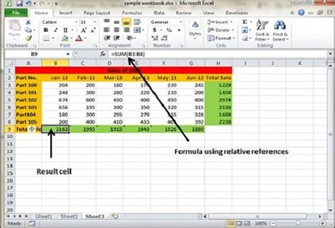tutorialspoint excel formula reference in excel 2010
