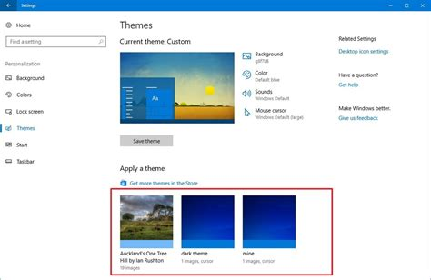 themes in microsoft how to use themes on the windows 10 creators update