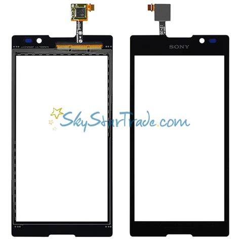 Touchscreen Sony Xperia C C2305 S39h sony xperia c s39h c2304 c2305 s39c digitizer touch screen panel