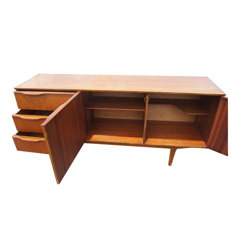 credenza teak 66 quot vintage mid century modern teak sideboard credenza ebay