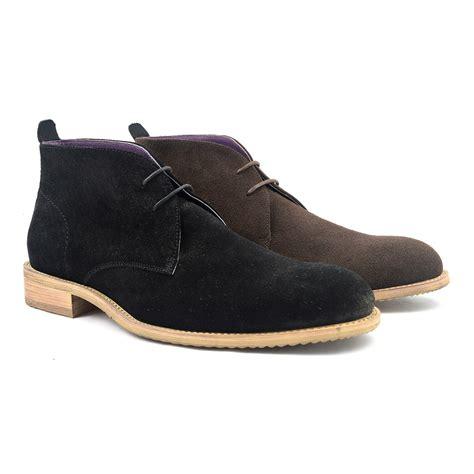 shop mens black suede chukka boot
