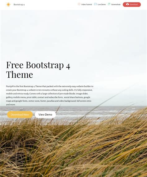 bootstrap blank theme free download bootstrap parallax theme