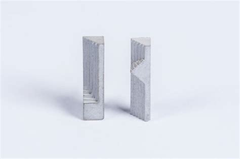 design milk concrete elements ii micro concrete earrings by material