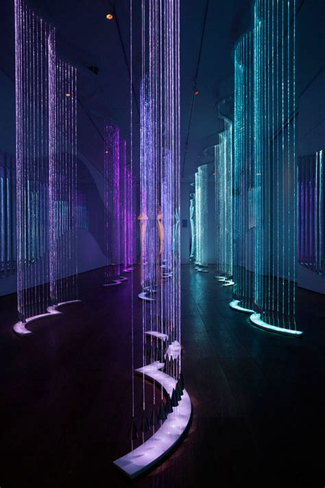 art design lighting cantus arcticus installation by bruce munro