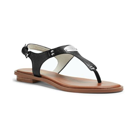 michael kors sandals for michael kors michael mk plate flat sandals in black