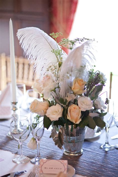 25 best feather wedding centerpieces ideas on