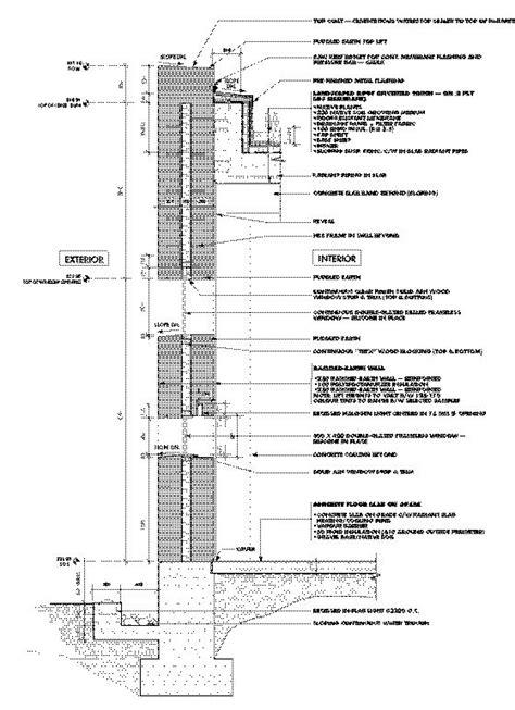 rammed earth wall detail terra firma canadian architect