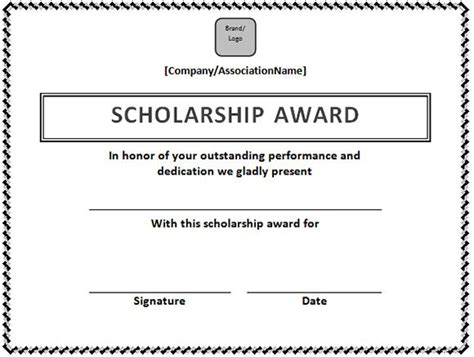 Scholarship Award Letter Daad Scholarship Certificate Template In Word Format Microsoft Office Sles And Templates Excel