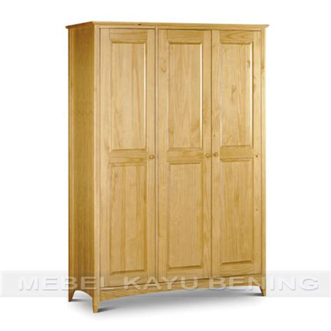 Lemari Pakaian Kayu Jati 3 Pintu lemari pakaian 3 pintu kayu jati model minimalis kblm 013