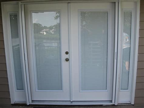 Patio Doors With Blinds Inside Glass Door Blinds Between Glass Custom Doors W Interior Blinds From Gulfside Glass Inc In