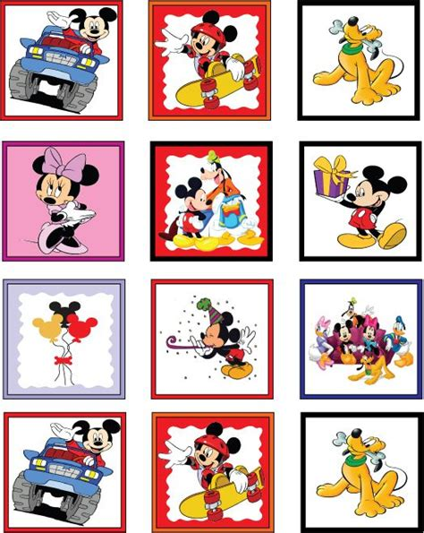 Printable Mickey Stickers | printable stickers mickey mouse and mice on pinterest