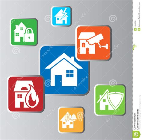 home security stock vector image of house
