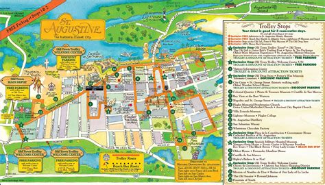 map of st map of st augustine florida my