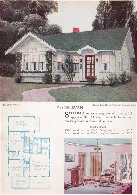 Small Vintage Homes 1928 Home Builders Catalog 1928 Delevan Small Vintage