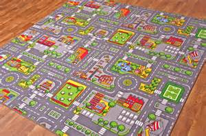 city s roads play mat with cars boys colourful