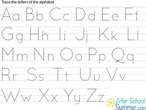 writing prompts for letter tracing draw and write printable traceable alphabet chart for and lower