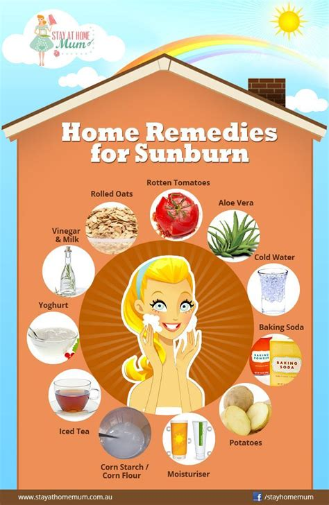 home remedies for sunburn heal your own self