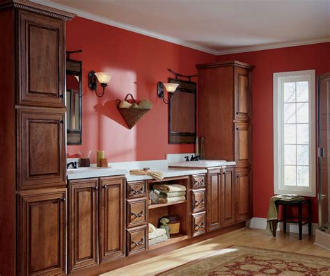 cherry bathroom cabinets schrock cabinetry