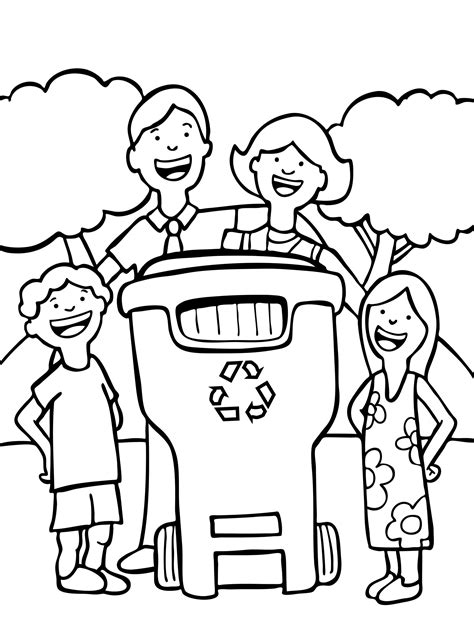 recycle coloring pages preschool free earth day coloring page for children let s recycle