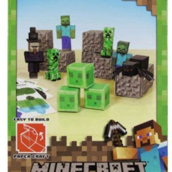 Minecraft Papercraft Hostile Mobs Set - shop minecraft settings on wanelo
