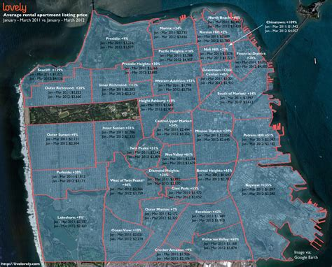 san francisco rental map you noticed the cost of rent in san francisco lately