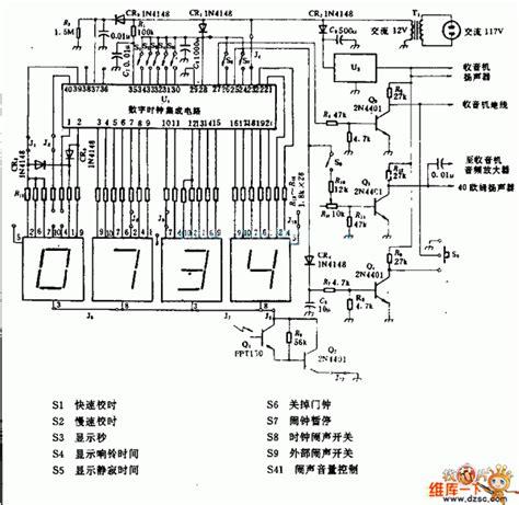 digital alarm clock circuit diagram unique alarm clock
