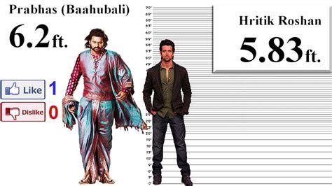 actor prabhas height baahubali prabhas height comparison with 35 stars youtube