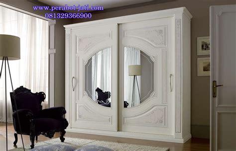 Lemari Pakaian Cat Putih jual lemari pakaian sliding mewah cat putih duco perabot jati jepara perabot jati perabot