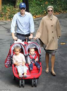 Baby trump s day out ivanka trump takes her family for a stroll in