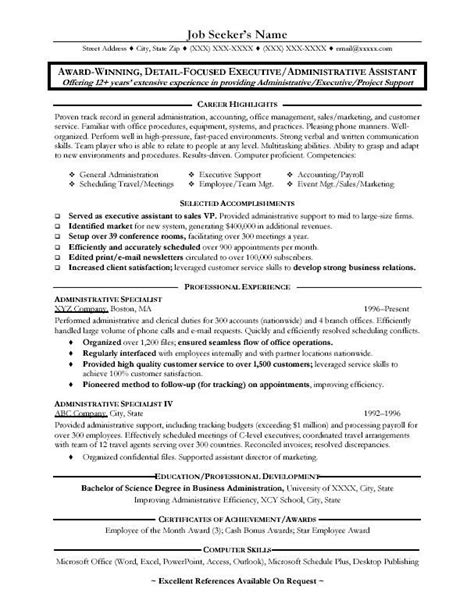 Resume Objective For Office Assistant