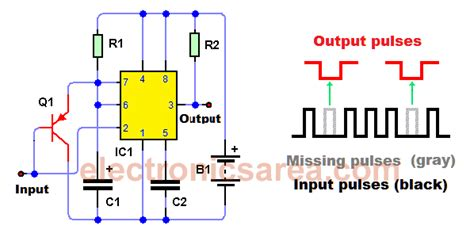 pulse detector circuit diagram missing pulse detector circuit using the 555 timer