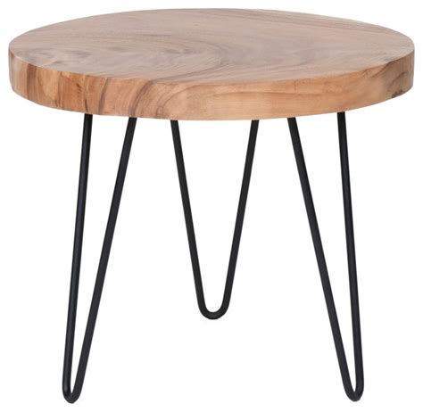 east at accent table east at s larkin brown teakwood accent table