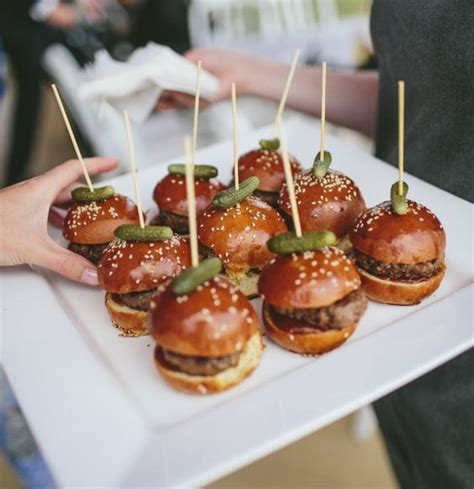 cocktail food mini brioche sliders the food for a