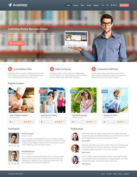 theme moodle klass academy learning management theme by themex themeforest