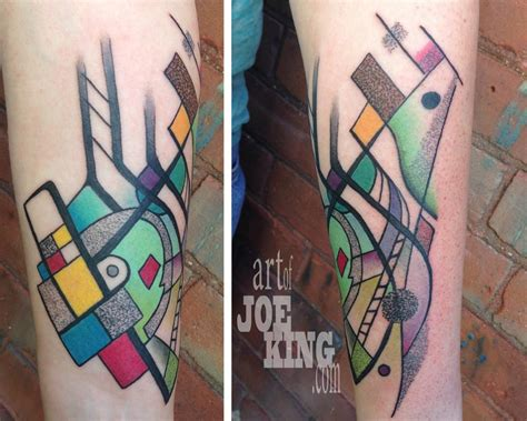 tattoo now mondrian kandinsky by joe king tattoonow