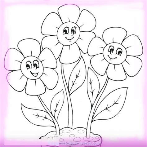 imagenes infantiles para colorear de flores dibujo de flores de primavera para colorear im 225 genes de