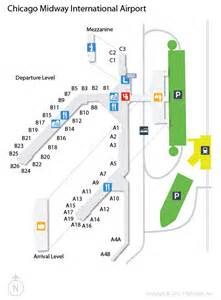 Chicago Midway Airport Map by Mdw Chicago Midway International Airport Terminal Map
