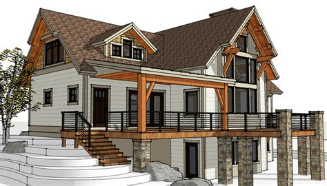 timber frame house plans with walkout basement timber frame homes the joe coffee timberbuilt our