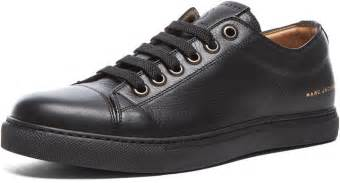 marc low top leather sneakers in black where to
