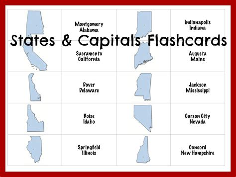 Printable Flash Cards United States | 8 best images of united states printable flashcards
