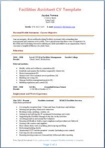 Resume Kitchen Manager by Facilities Assistant Cv Example Preview Page 1