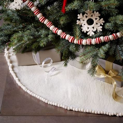 felt pom pom tree skirt west elm