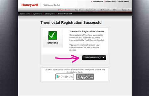 my total comfort connect how to register honeywell wi fi thermostat online for