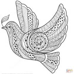zentangle coloring zentangle dove of peace coloring page free printable