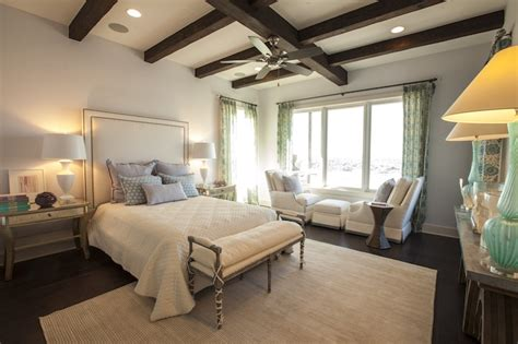 southern bedrooms antiqued mirrored nightstands transitional bedroom