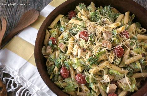 chicken pasta salad recipe chicken caesar pasta salad recipe